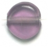 Glass Beads 10mm Round Coin Amethyst